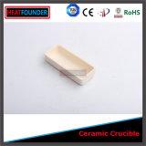 Crogiolo di ceramica dell'alta allumina refrattaria per il riscaldamento