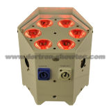 Batería sin hilos Uplighting 6X10W RGBWA 5 in-1 del LED