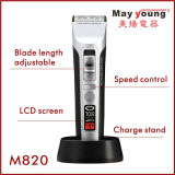 Atacado Rechargeable Cord & Cordless Ceramic Blade LCD Hair Clipper