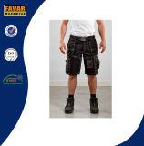 Os Multi-Bolsos Short Shorts pretos das calças de brim baratas dos Shorts dos Shorts/do Mens dos Shorts/da carga