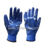 Guante completamente sumergido del trabajo de los guantes del jardín de los guantes del nitrilo
