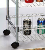 4 Baskets를 가진 4 층 Powder Coated Commercial Mobile Wire Shelving
