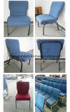 Venta caliente que empila la silla de la iglesia del metal usada con Bookrack