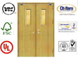 Le feu Door/Solid Wooden Fire Rated Doors avec BS476 Standard