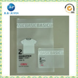 Vestiti del PVC e sacchetto di plastica della biancheria intima, sacchetto cosmetico dell'imballaggio del PVC con un amo/gancio e tasto (JP-plastic004)