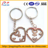 Encadenamiento dominante de la alta calidad del corazón al por mayor del metal, regalos promocionales Keychains