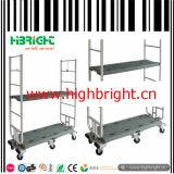 Carretilla resistente plegable del almacén de la plataforma del acoplamiento de alambre