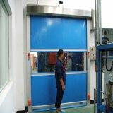 공기 샤워를 위한 자동적인 반대로 먼지 투성이 고속 PVC 직물 회전 문