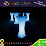 LED 테이블을 바꾸는 옥외 바 가구 RGB 색깔