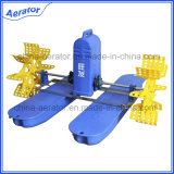 1HP 0.75kw 2 Impellers Fish Aerator Paddle Wheel Aerator