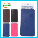 Caixa do filtro do couro do entalhe de cartões de Mutifunction da resistência da gota para o iPhone
