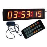 """2.3 """"6 cifre LED Orologio digitale, caratteri di colore rosso, sostegno regolare la funzione orologio (con display 12/24 ore a disposizione) e il conto alla rovescia / fino Funzione in ore M"""