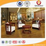 Presidenza bassa di legno di svago del sofà del tessuto classico della mobilia (UL-JT938)