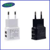 黒く白いケース5V USBの電話充電器