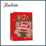 Preiswertes Großhandelsweihnachtsrote u. schwarze Einkaufen-Träger-Geschenk-Papiertüten