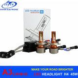 indicatore luminoso H4/9003 H1 H3 H7 H11 9005 dell'automobile di 90W 12000lm A3 9006 kit automatici del faro del faro di H13 LED