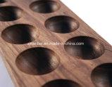 習慣10パックのクルミの木製の卵の記憶の皿