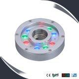 9X3w IP68のフルカラーの変更LEDの水中噴水ライト