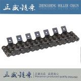 con la catena di piegamento del rullo del passo del doppio del piatto, catena dell'acciaio di manganese