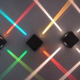 El nuevo tipo IP65 moderno impermeabiliza la lámpara de pared cuadrada lateral del shell 4 al aire libre negros LED 12W