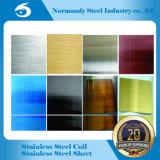 Feuille et plaque d'acier inoxydable de 202 couleurs pour la décoration et la cabine, porte d'ascenseur