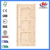 Porte en bois en dalle de pin à 6 panneaux