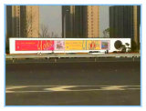 Bandera al aire libre de la visualización de matriz de PUNTO del LED que hace publicidad de la pantalla