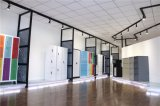 ベージュカラーオフィスの使用の振動2ドアのファイルストレージの金属の食器棚