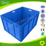 Recipiente logístico da UE do plástico do transporte azul da cor