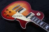 Guitare 1959 électrique Sunburst âgée par réédition de cerise de cru de Lp