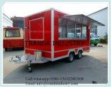 Camion mobile 2017 dell'alimento del rimorchio dell'alimento della via su ordinazione del hot dog di approvvigionamento del rifornimento della Cina con le rotelle