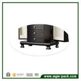 Casella di memoria di legno nera dei monili con il cassetto