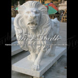 Lion blanc animal Ma-190 de Carrare de granit animal en pierre animal de marbre