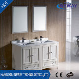 アメリカの床の永続的な木製の二重洗面器の浴室の流しの虚栄心