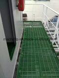"""Passage couvert antidérapage de Fiberglass/GRP râpant la grille carrée de la maille 1-1/2 """" profondément, 1-1/2 """""""