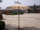 Paraguas de madera esencial al aire libre del jardín con poste central