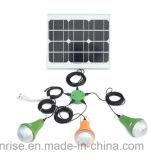 Kit de iluminação solar recarregável de energia solar com carregador USB