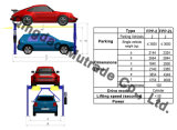 Подъем автомобиля столба 4 оборудования стоянкы автомобилей механически (FPP-2)
