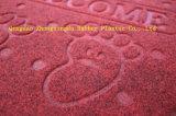 3G PVC裏付け(3G-LRYH)が付いているベロアによって浮彫りにされる床のドア・マット