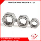 Noix Hex de l'acier inoxydable 304 A2 DIN934 d'acier du carbone
