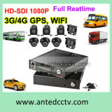 4 registrador áspero do automóvel DVR da canaleta HD 1080P do CH/8 com seguimento do GPS