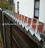 O ponto da parede da segurança na lâmina de cerco superior crava a fábrica/cerca