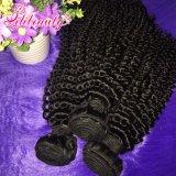 100%の人間の毛髪のブラジルのねじれた巻き毛のRemyの人間のバージンの毛の拡張