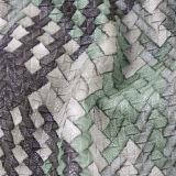 Кожа PU картины сырья цветастая сплетенная имитационная для обоев, соф, сумок