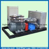 pompe à haute pression industrielle de nettoyage de jet d'eau de nettoyeur de pipe 100MPa