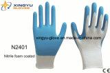 Перчатки работы безопасности раковины полиэфира покрынные нитрилом (N2401)