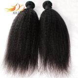 熱い販売8Aねじれた直毛のWeftモンゴルのバージンの毛のよこ糸
