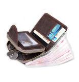 Retro 작풍 Cion 홀더를 가진 실제적인 가죽 지퍼 지갑