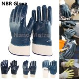 Huile Nmsafety Heavy Duty Bleu nitrile Preuve de gants de sécurité