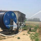 Sistema de irrigação móvel do carretel da mangueira do sistema de extinção de incêndios da exploração agrícola para a terra pequena